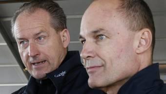 Bertrand Piccard (rechts) mit Kollege André Borschberg (Archiv)