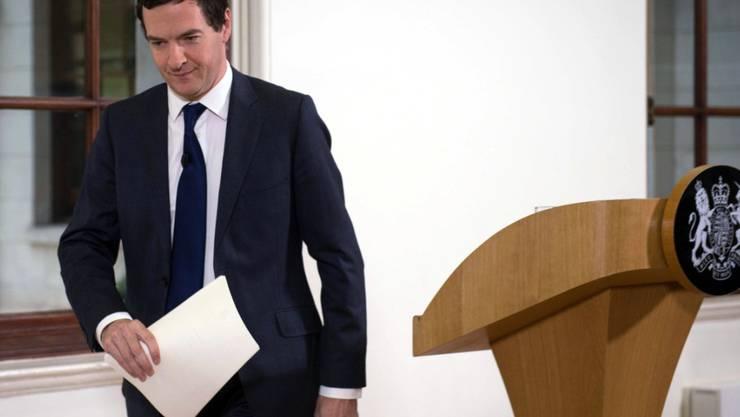 Die britische Wirtschaft ist für den Brexit gerüstet:  Finanzminister George Osborne nach seiner Erklärung am Montagmorgen.
