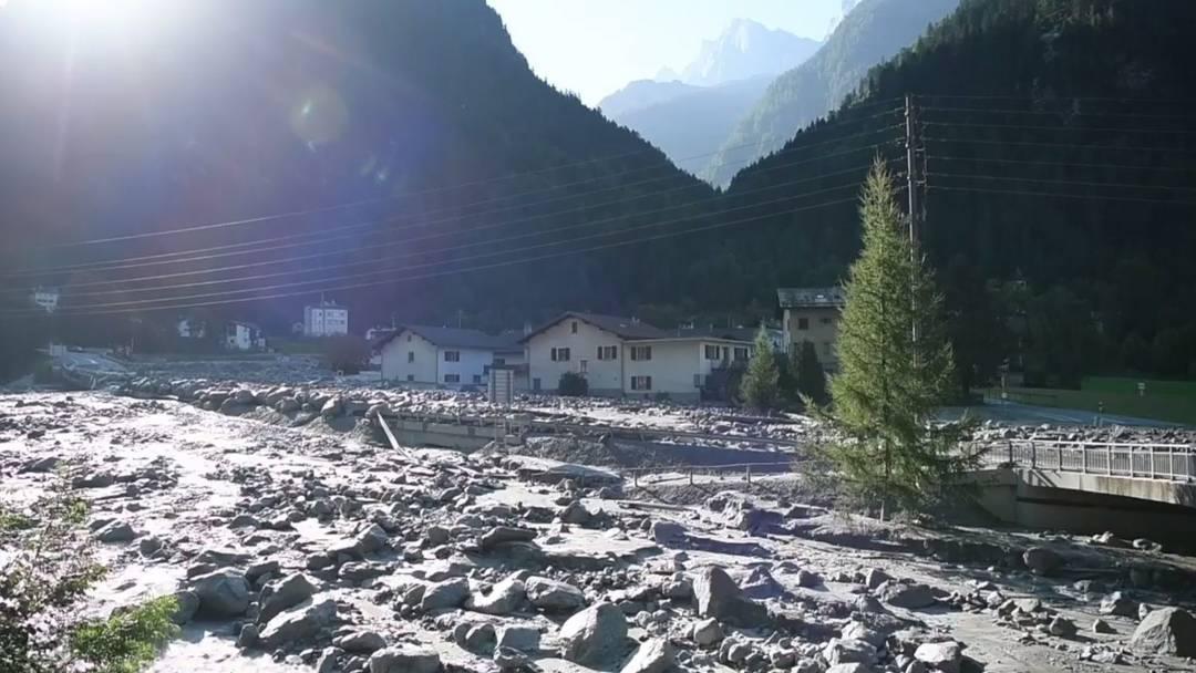 Bergsturz in Bondo: So sieht es im Ort aus
