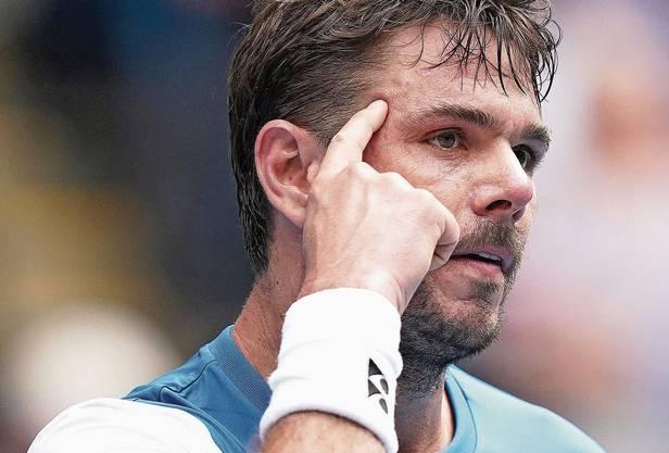 Tennisprofi Stan Wawrinka zelebriert den Aspekt der mentalen Stärke öfters mit einer Geste.