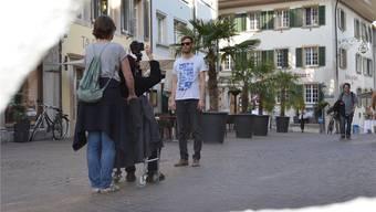 Videodreh mitten in der Oltner Altstadt ohne viele konstante Zuschauer: Dafür gabs viele neugierige Blicke von Passanten.