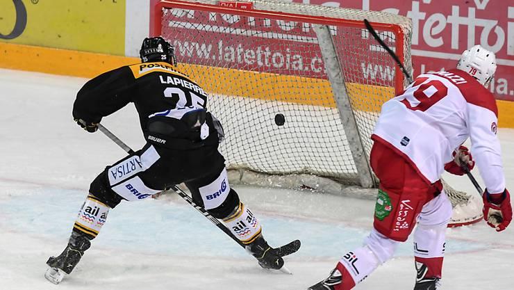 Entschied die Partie gegen Lausanne mit dem 6:4: Luganos Maxime Lapierre