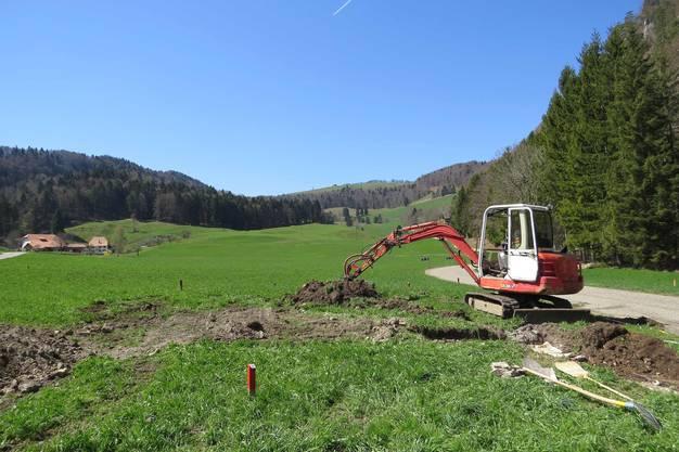 Sondiergrabung 2018 am Standort der ehemaligen Glashütte im Hinteren Guldental in der Gemeinde Mümliswil-Ramiswil.