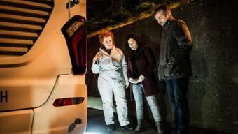 Die Luzerner Tatort-Kommissare Liz Richard und Reto Flückiger im Einsatz