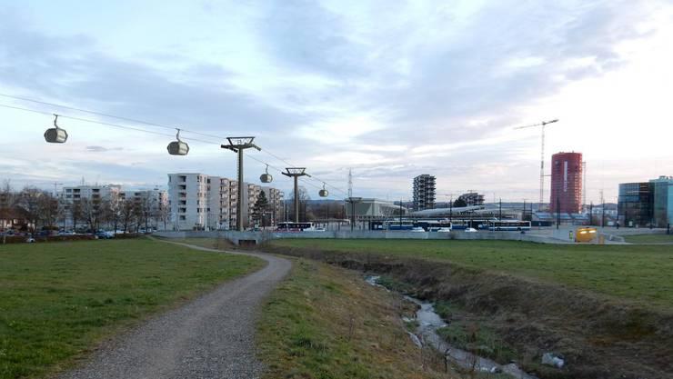 Mit der Seilbahn soll der öffentliche Verkehr entlastet werden.