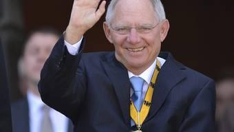 Der deutsche Finanzminister Wolfgang Schäuble in Aachen