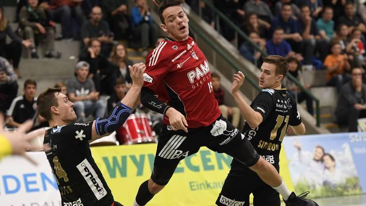 Die Impressionen des Spiels: HSC Suhr Aarau gegen Pfadi Winterthur.
