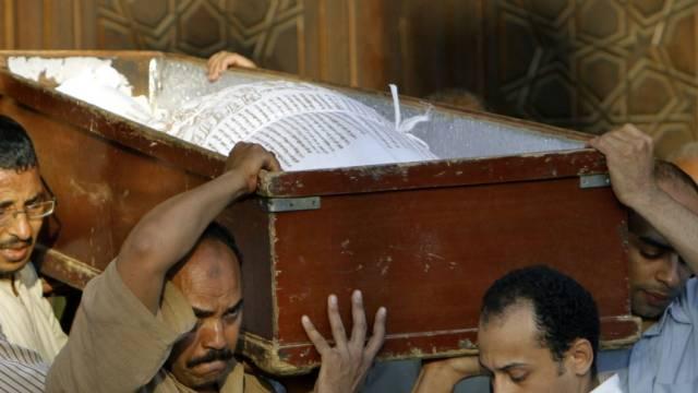 Sarg eines Schiiten in Kairo