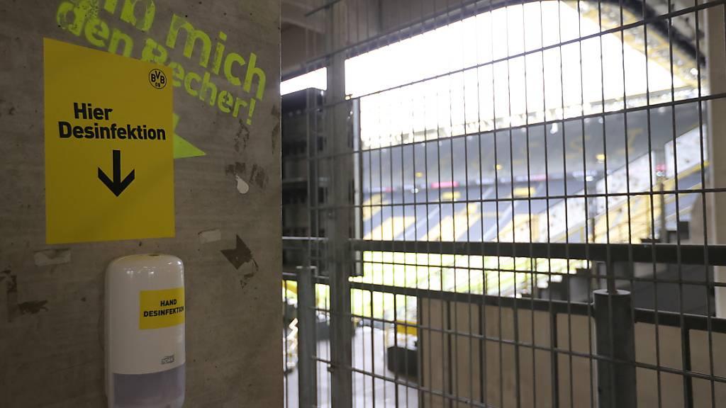 Im Stadion in Dortmund wurde eine Behanldungsstation eingerichtet