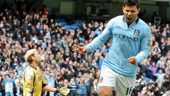 Sergio Agüero schoss Manchester City mit 1:0 in Führung.