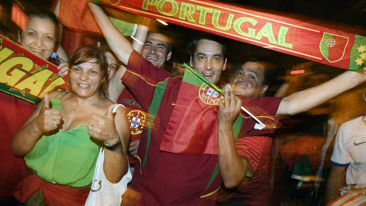 Jubel für Portugal: Die Fans feierten ausgelassen.