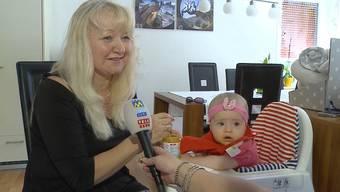 FürZlata Vasiljevic ist ihre Tochter Angela auch nach einem halben Jahr noch ein Wunder. «Tele M1» hat sie zuhause in Hägendorf besucht.