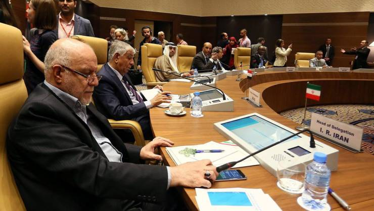 Zähe Verhandlungen: Die Vertreter der Opec-Staaten an ihrem inoffiziellen Treffen in Algiers.