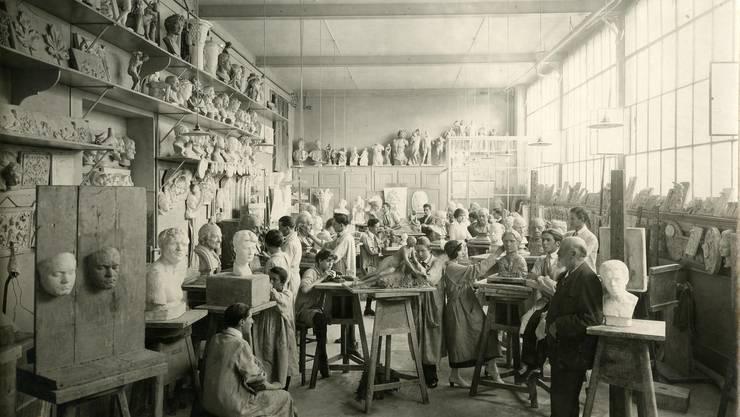 Künstleratelier im 19. Jahrhundert