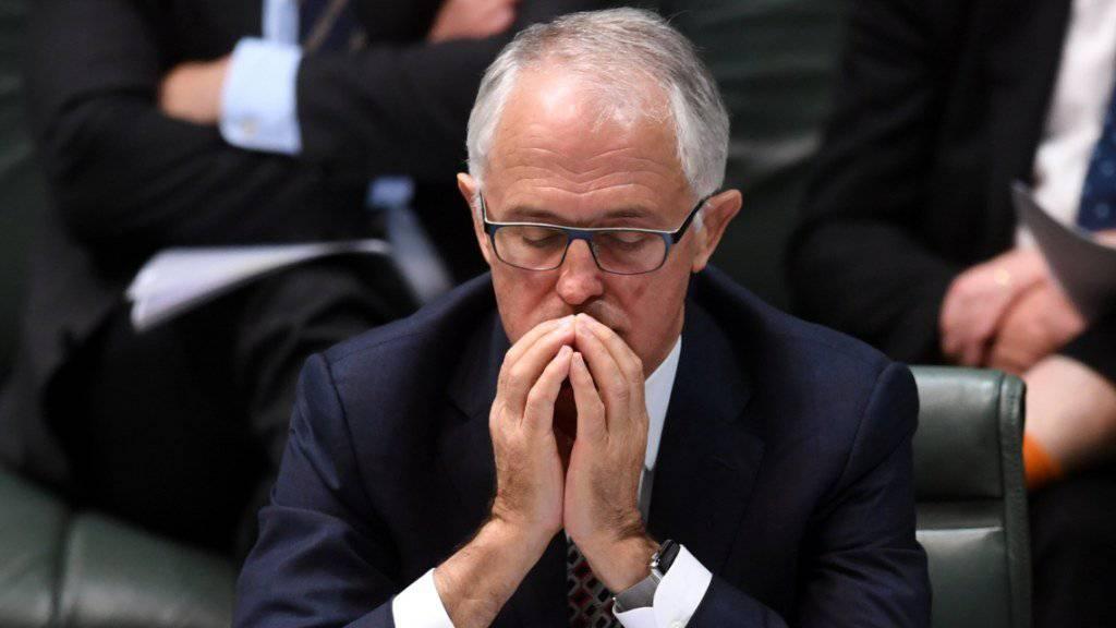 Nachdenklicher australischer Regierungschef Malcolm Turnbull: Er nannte den Anschlag in Manchester «besonders niederträchtig».
