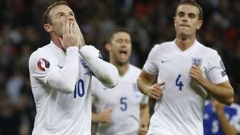 Auch Rooney (links) reihte sich unter Englands Torschützen