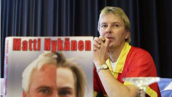 Famous Finnish ski jumper from the 80's Matti Nykaenen visits the Ski Jumping World Cup in Oberstdorf on his publicity tour of the book about his life 'Greetings from hell', written by Italian writer Egon Theiner, Sunday 28 December 2003. EPA/MARKKU ULANDER FINLAND OUT