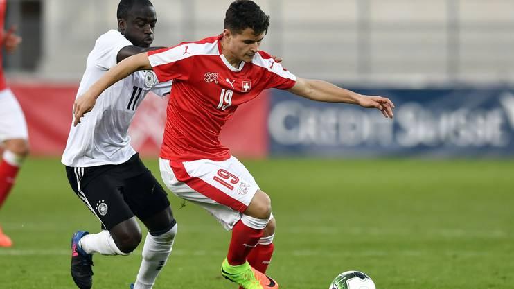 Arxhend Cani im Dress der Schweizer Juniorennationalmannschaft.