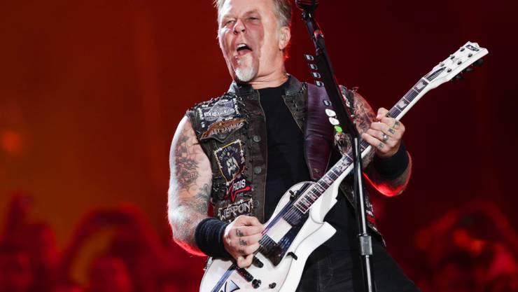 James Hetfield von Metallica. Seine Band gehört zusammen mit Kendrick Lamar, Rihanna, Major Lazer und Selena Gomez zu den Headlinern des 2016 Global Citizen Festival am 24. September im Central Pèark in New York.