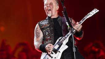 James Hetfield von Metallica. Seine Band gehört zusammen mit Kendrick Lamar, Rihanna, Major Lazer und Selena Gomez zu den Headlinern des 2016 Global Citizen Festival am 24. September im Central Pèark in New York.