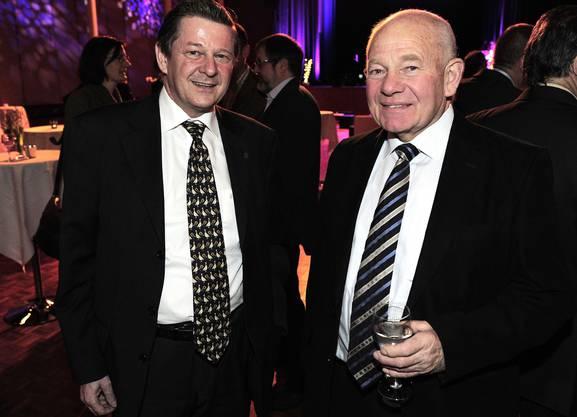 Markus Ritter, Generalsekretär von Guy Morin, mit Walter Banga