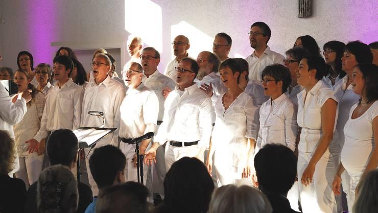 Die Vindonissa Singers beim Konzert in der Kapelle Rümmingen