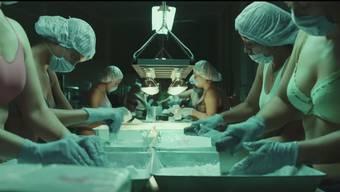 Szene aus der TV-Serie «ZeroZeroZero». Im mexikanischen Monterrey packen junge Frauen das Kokain in Büchsen ab.