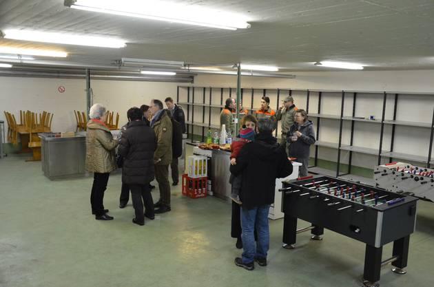 Im Gemeinschaftsraum installierte der Zivilschutz eine Industrieküche.