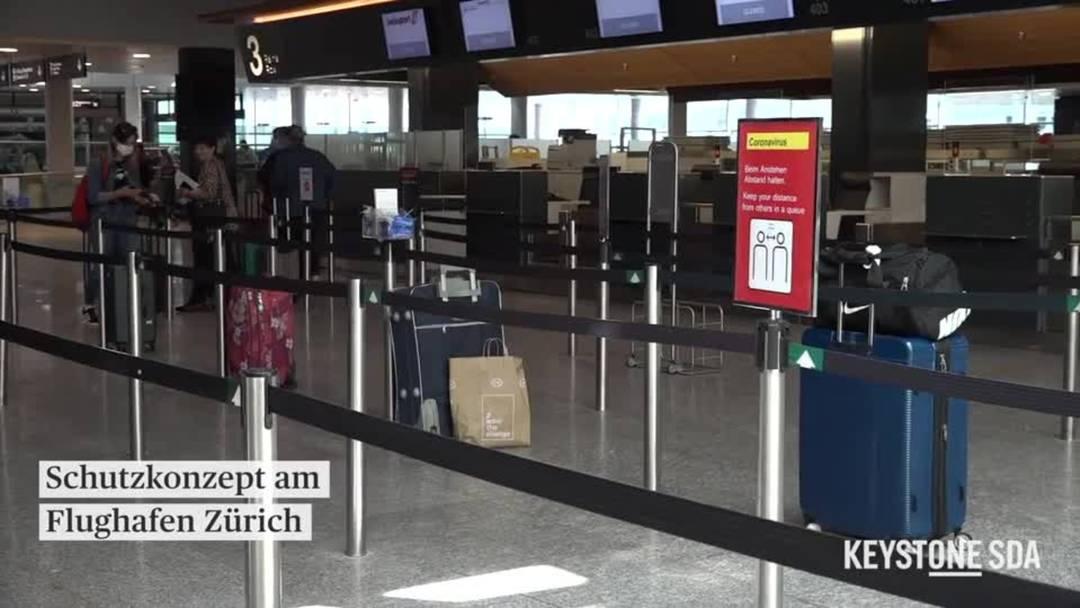 Keine Maskenpflicht am Flughafen Zürich