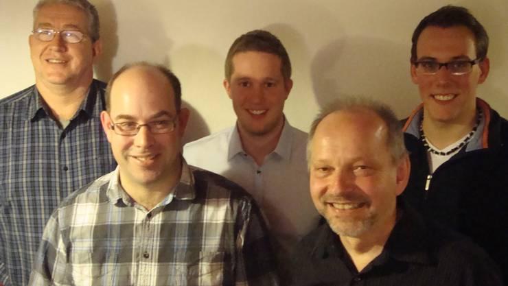 Volker Nugel, Bruno Locher, Raphael Geiser, Paul Erni und Fabian Gloor (von links nach rechts).