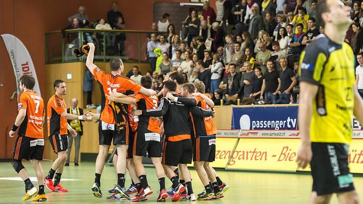 Die Kadetten Schaffhausen feiern den achten Meistertitel in den letzten elf Jahren