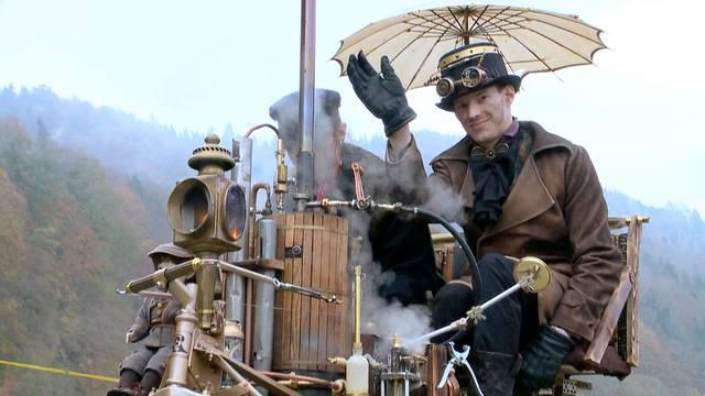 Jungfernfahrt für Steampunk-Kutsche