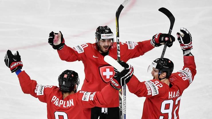 Die Schweizer drehten die Partie gleich zu Beginn des zweiten Drittels.