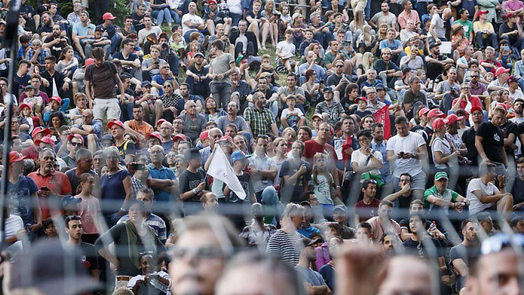 Das Zuschauer-Interesse war auch in Bern gross