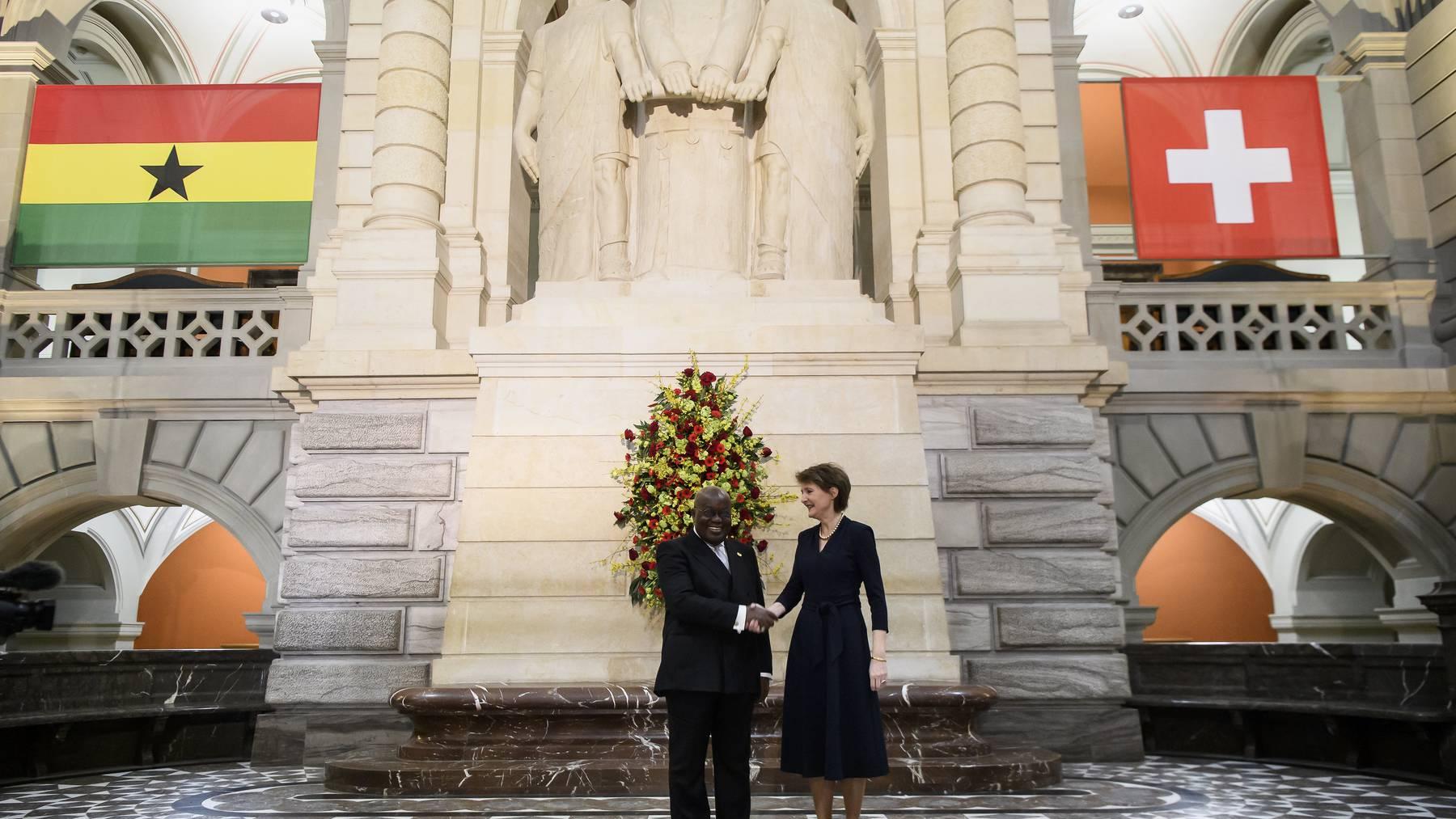 Die Beziehungen der beiden Länder sind eng: Erst im Februar hatte die Schweiz Ghanas Präsidenten Nana Akufo-Addo empfangen.