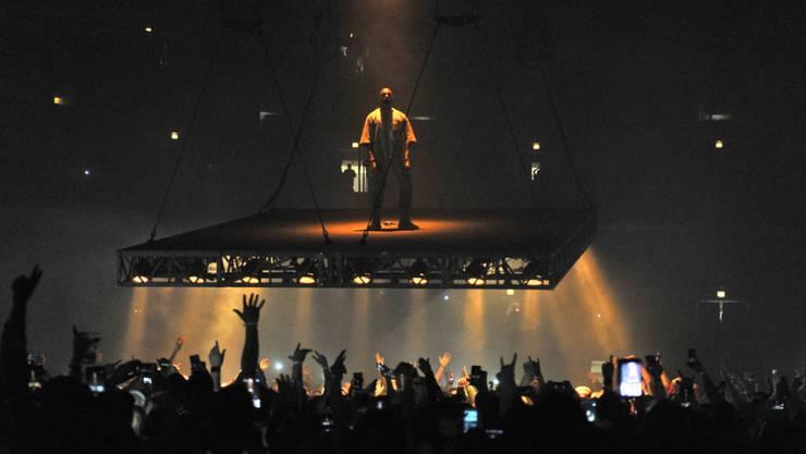 Kanye West bei einem Konzert am 7. Oktober in Chicago. (Archivbild)