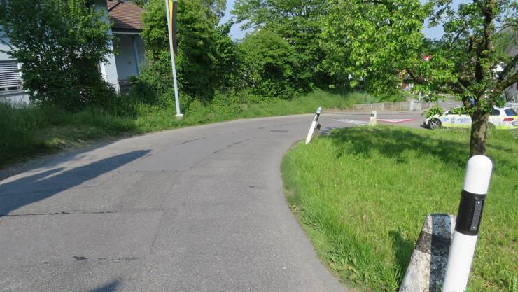 Der Unfall ereignete sich nach dem Ortseinang von Mühlau.