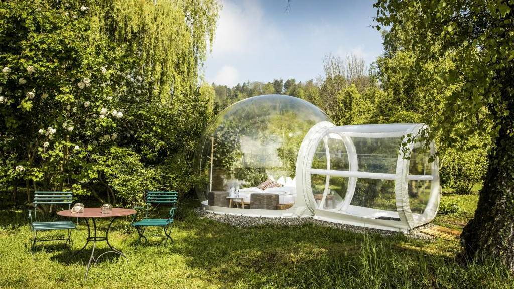 Das Bubble Hotel bei der Kartause Ittingen