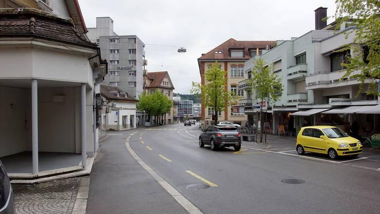 Die CVP möchte die Zentralstrasse in Wohlen aufwerten. Dominic Kobelt