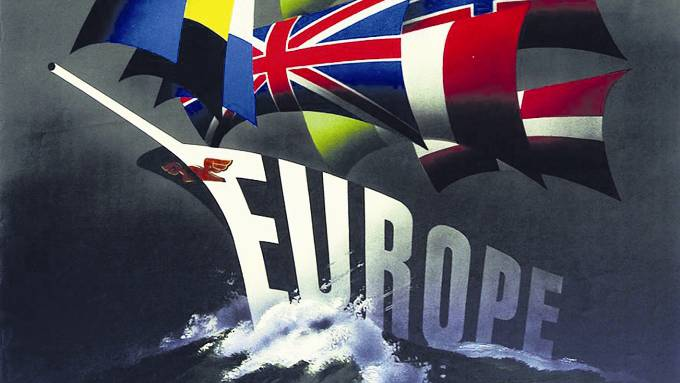 Ein Propagandaposter von 1947 wirbt für eine koordinierte Wirtschaftspolitik der Westeuropäer. ho