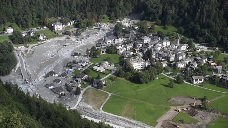 Bondo nach dem Bergsturz im August 2017, der acht Menschenleben gefordert hat.