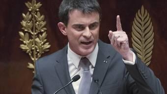 Seine Taktik ging auf: Valls während einer Rede vor dem Votum