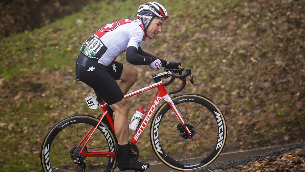 Simon Pellaud, hier im Dress des Schweizer Teams an der kürzlich zu Ende gegangenen Tour de Romandie, durfte bis 9 km vor dem Ziel auf den Etappensieg hoffen