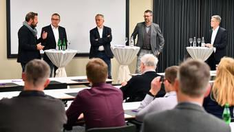 Von links Reto Baumgartner, Urs Blaser, Markus Dietler, Alain Bernheim und Rolf Schmid.