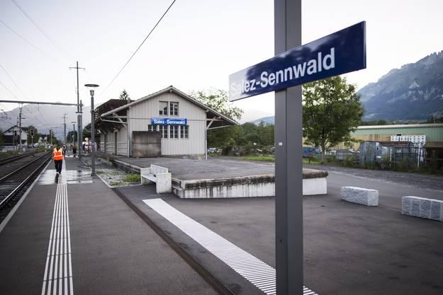 Die Attacke ereignete sich gegen 14.20 Uhr kurz vor dem Bahnhof Salez auf der Strecke zwischen Buchs und Sennwald