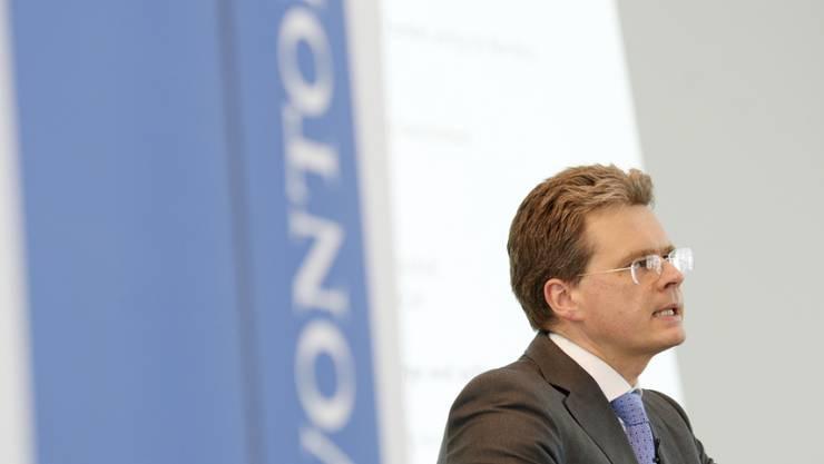 Vontobel-Chef Zeno Staub erläutert den Geschäftsverlauf. (Archiv)