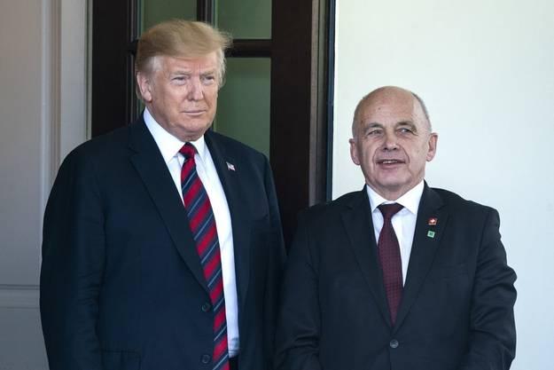 US-Präsident Donald Trump empfängt den Schweizer Bundespräsidenten Ueli Maurer.
