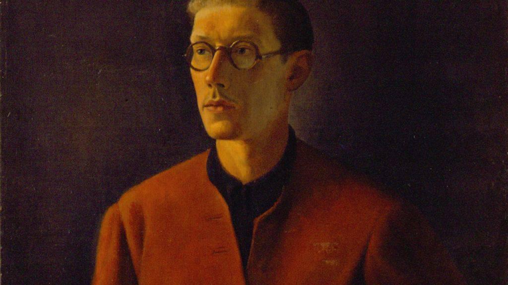 Selbstbildnis von Théodore Strawinsky, 1934, Öl auf Leinwand, Fondation Théodore Strawinsky, Genf