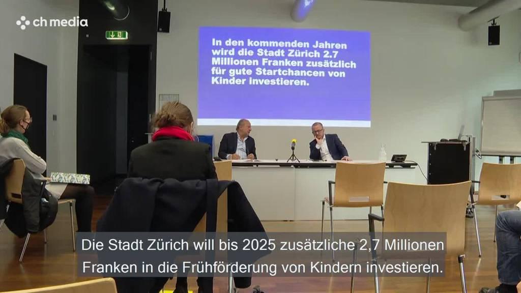Stadt Zürich investiert 2,7 Millionen in Frühförderung