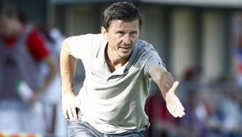 Weist er seiner Mannschaft doch noch den Weg zum Erfolg? Aarau-Trainer Marinko Jurendic.